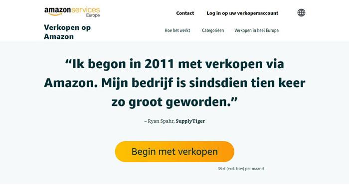 aanmelden bij amazon nederland voor verkopen
