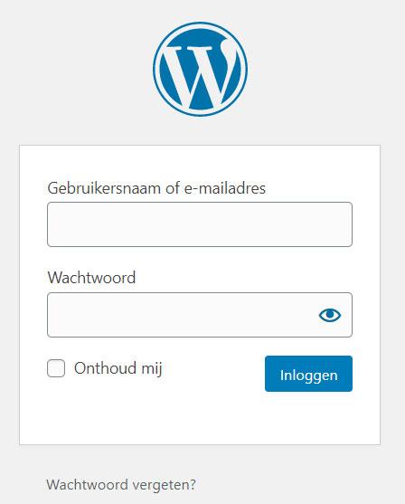 inloggen met wordpress