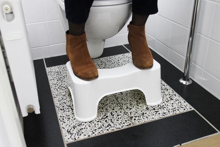 gebruik wc krukje