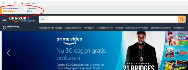 amazon affiliate sitestripe partnernet